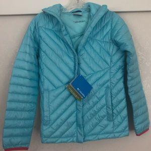 Girls large 14/16 light blue Columbia jacket